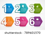 infographics template with... | Shutterstock .eps vector #789601570