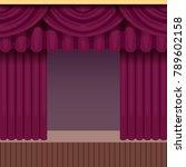 vintage theater scene...   Shutterstock .eps vector #789602158