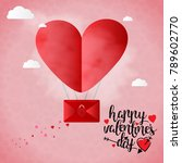 happy valentine's day card... | Shutterstock .eps vector #789602770