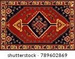 persian carpet  tribal vector...   Shutterstock .eps vector #789602869