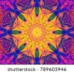beautiful kaleidoscope gold... | Shutterstock . vector #789603946