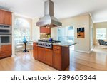 kitchen in luxury home with... | Shutterstock . vector #789605344