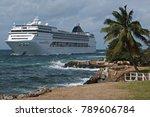 cruiser near the castillo de...   Shutterstock . vector #789606784