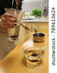 chef makes a caviar molecular... | Shutterstock . vector #789613624