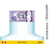 canadian dollar rising as a... | Shutterstock .eps vector #789616489