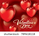 valentine's day vector... | Shutterstock .eps vector #789618118