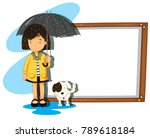 banner template with girl and... | Shutterstock .eps vector #789618184