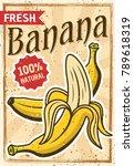 banana tropical fruit colored... | Shutterstock .eps vector #789618319
