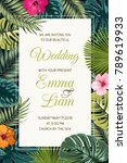 wedding event invitation card... | Shutterstock .eps vector #789619933