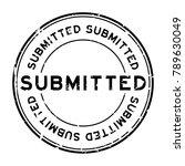 grunge black submitted round... | Shutterstock .eps vector #789630049
