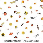 illustration sketch beach and... | Shutterstock .eps vector #789634330