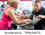 personal trainer instructs... | Shutterstock . vector #789636073