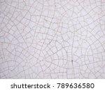 cracked texture of ceramic... | Shutterstock . vector #789636580