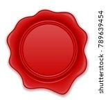 red wax stamp illustration... | Shutterstock . vector #789639454