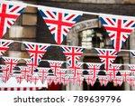 union jack flag triangular... | Shutterstock . vector #789639796