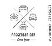 vector logo passenger car....   Shutterstock .eps vector #789642178