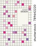 tile pattern book cover  annual ... | Shutterstock .eps vector #789642220