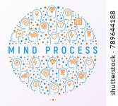 mind process concept in circle... | Shutterstock .eps vector #789644188