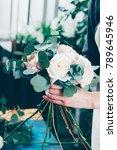 pink roses in brides flower... | Shutterstock . vector #789645946