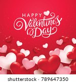 happy valentine's day romance... | Shutterstock .eps vector #789647350
