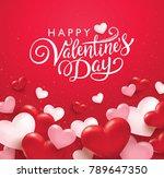 happy valentines day romance... | Shutterstock .eps vector #789647350