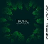design with exotic tropical... | Shutterstock .eps vector #789649024