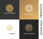 vector set of logo design... | Shutterstock .eps vector #789653176
