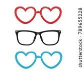 vector realistic eyeglasses... | Shutterstock .eps vector #789655228