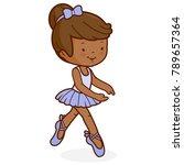 little african american ballet... | Shutterstock .eps vector #789657364