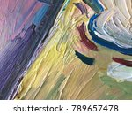 raw paintings artistic textured ... | Shutterstock . vector #789657478