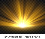 abstract golden bright light.... | Shutterstock .eps vector #789657646