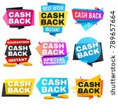 money cash back vector labels... | Shutterstock .eps vector #789657664