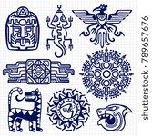 ballpoint pen american aztec ... | Shutterstock .eps vector #789657676