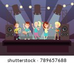 music show with kids band... | Shutterstock .eps vector #789657688