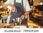 working cook in the kitchen | Shutterstock . vector #789659269