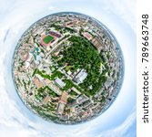 aerial city view with... | Shutterstock . vector #789663748