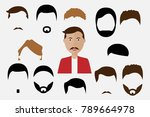 haircuts of man avatar  vector... | Shutterstock .eps vector #789664978