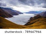 mountain fog sky clouds...   Shutterstock . vector #789667966