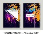 neon explosion paint splatter... | Shutterstock .eps vector #789669439