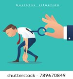 hand holding the big key and ... | Shutterstock .eps vector #789670849