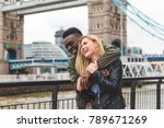 Happy Multiracial Couple In...
