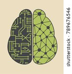 icon brain neural networks... | Shutterstock .eps vector #789676546