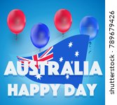 happy day australia.... | Shutterstock .eps vector #789679426