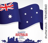 happy australia day vector... | Shutterstock .eps vector #789680860