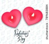valentines day. valentines day... | Shutterstock .eps vector #789683884