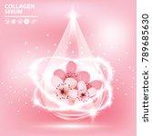 sukura   cherry blossom... | Shutterstock .eps vector #789685630
