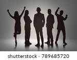 silhouette group of business... | Shutterstock . vector #789685720