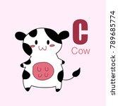 vector of cute english alphabet ... | Shutterstock .eps vector #789685774