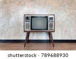 retro television on stone wall... | Shutterstock . vector #789688930