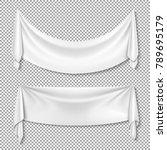 wrinkled textile drape fabric... | Shutterstock .eps vector #789695179